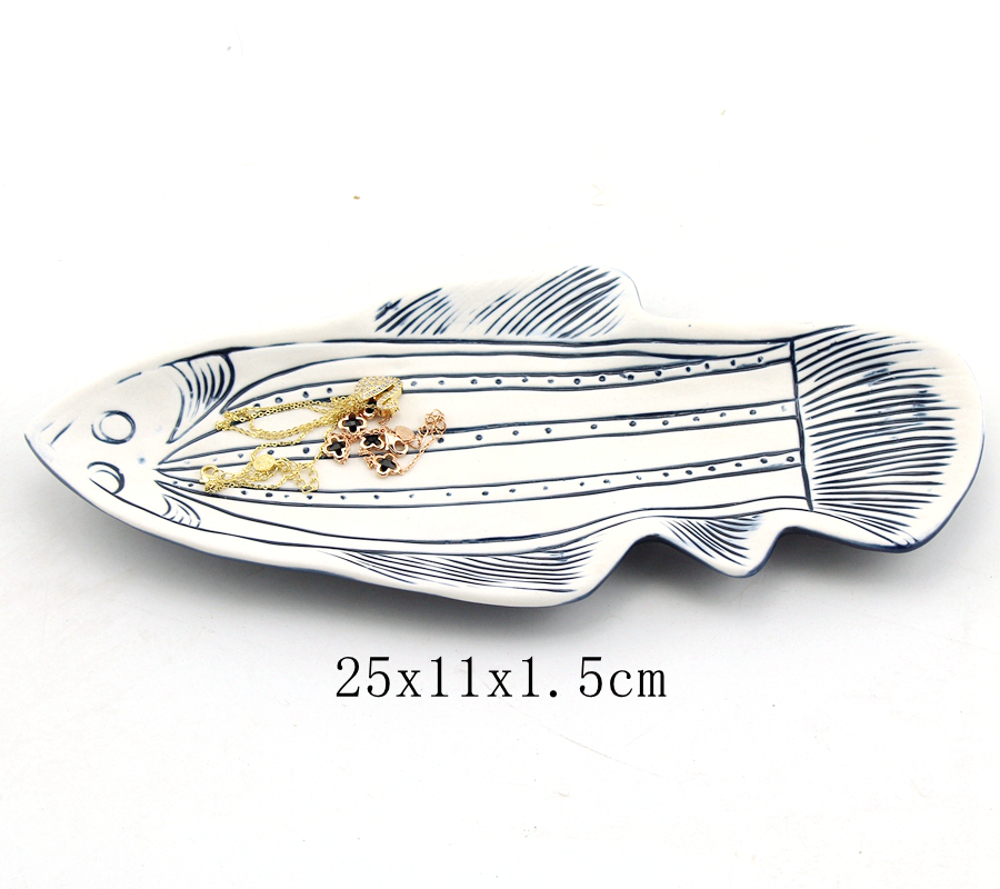 ceramic fish trinket dish for jewelry