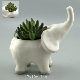 Pottery Animal Planter Pot