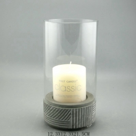 Concrete Candle Holder with glass