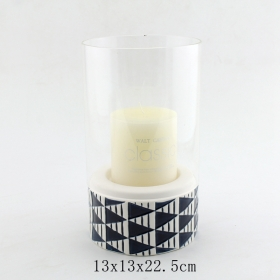home decor glass pillar candle holders